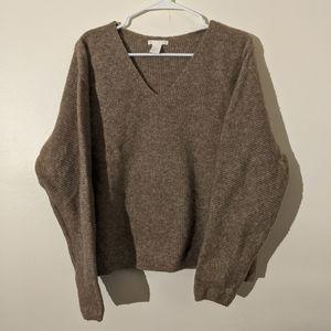 HM Neutral V Neck Sweater